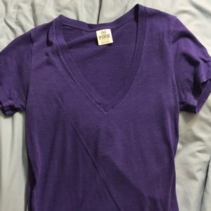 Purple VS Pink V-neck T-shirt